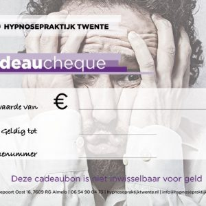 Hypnosepraktijk Twente cadeaucheque cadeaubon